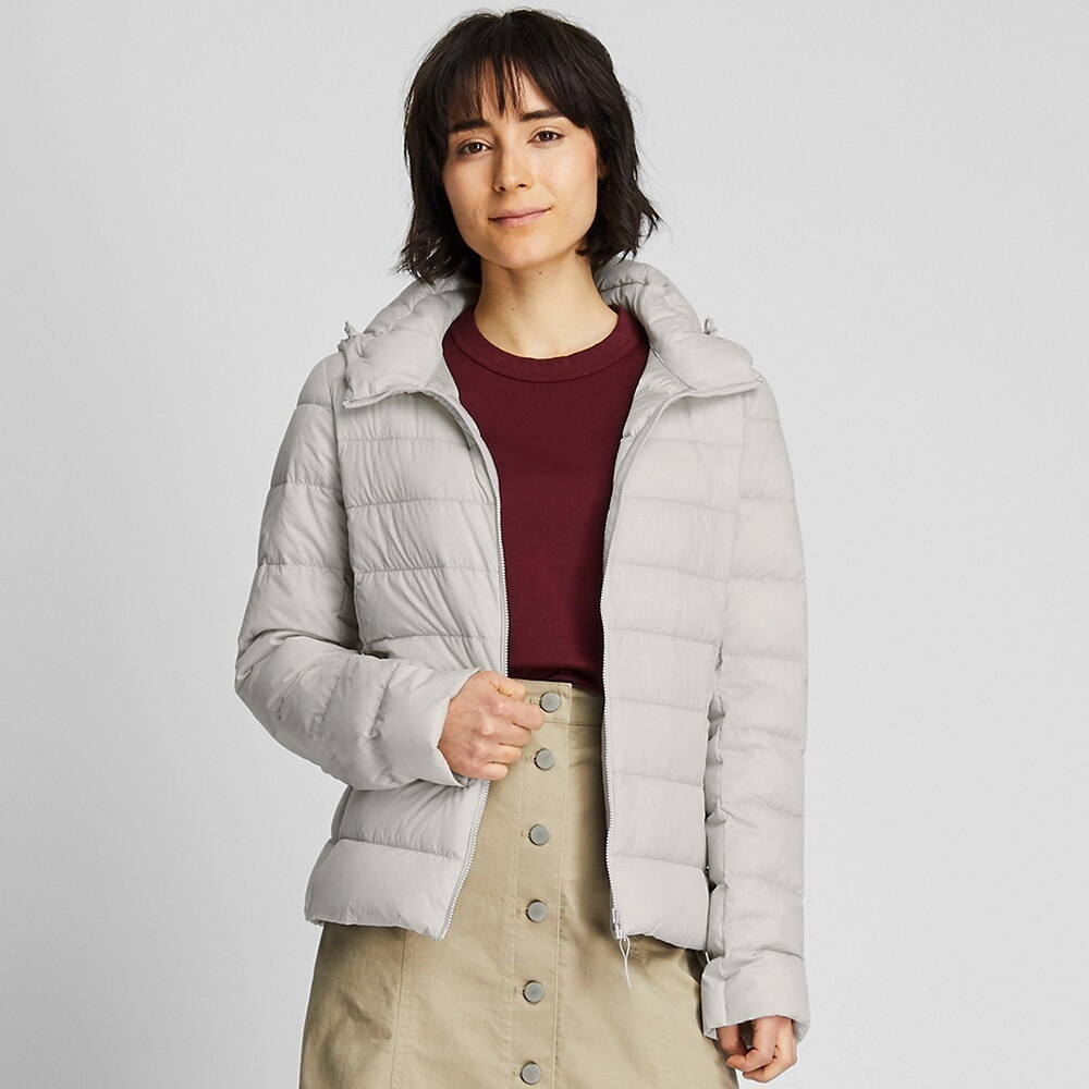 Ao Phao Long Vu Nu Uniqlo 2019 Mau 02 Light Gray